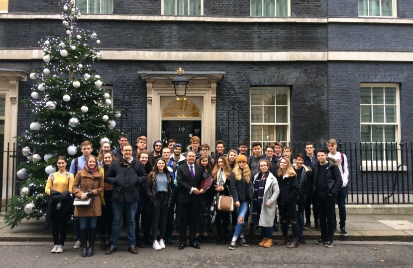 Gordano school pupils outside number 10