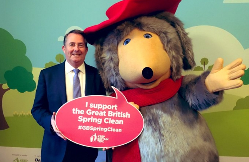 Dr Fox supports the Keep Britain Tidy campaign